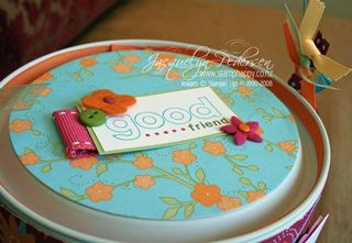 {New!  Good Friend Altered Paint Can}