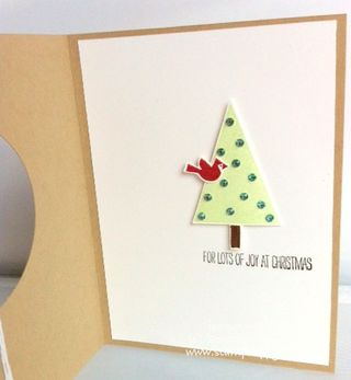 Stampin up Festival of Trees hardwood christmas quick card