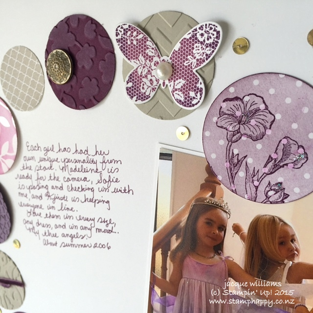 stampin up butterfly basics layout scrapbooking