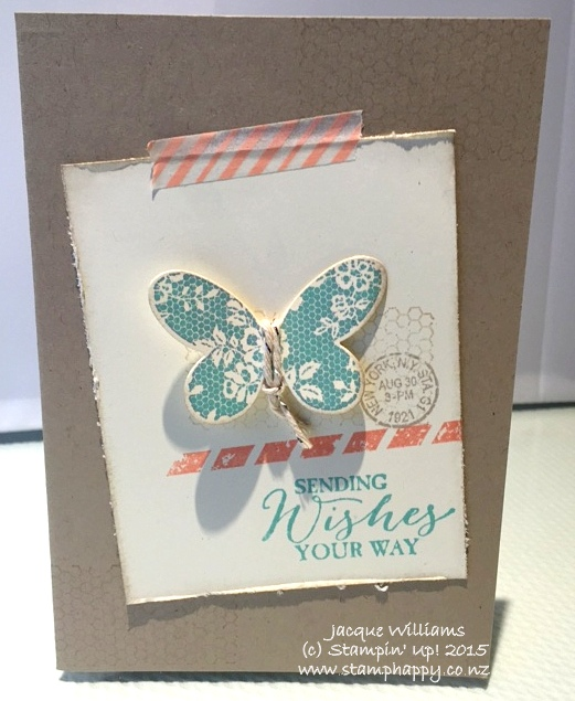 stampin up butterfly basics pop up card