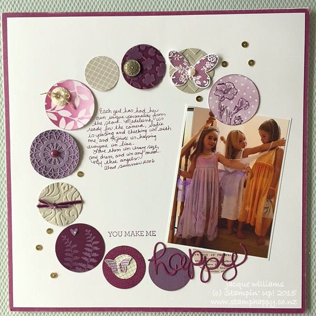 stampin up butterfly basics scrapbooking layout