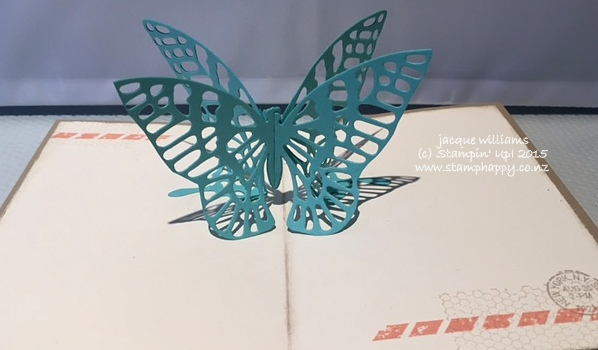 stampin up butterfly pop up 3D fun fold