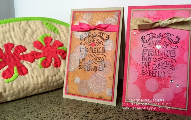 stampin up Friendly Wishes Bokeh technique