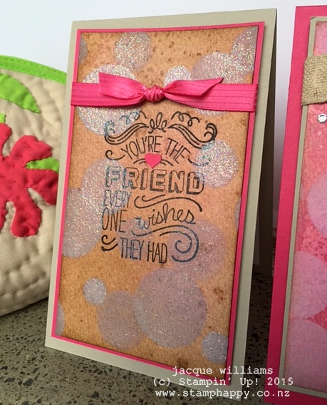 stampin up friendly wishes watercolour bokeh background technique