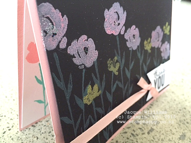 stampin up painted petals chalk ink