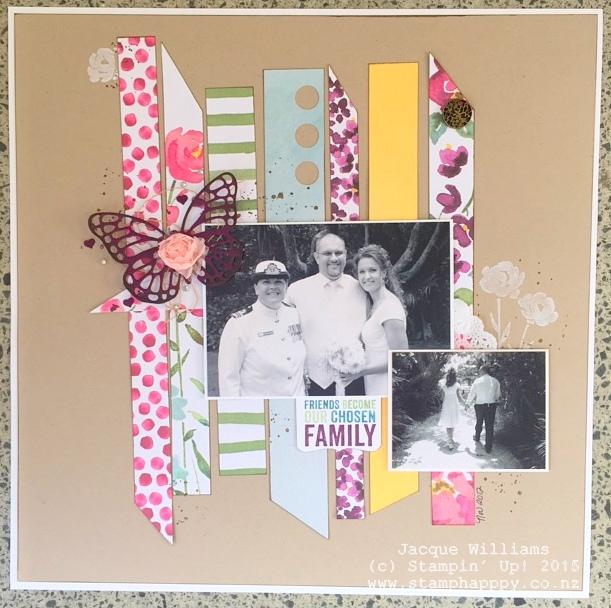 stampin up painted petals layout scrapbooking vintage