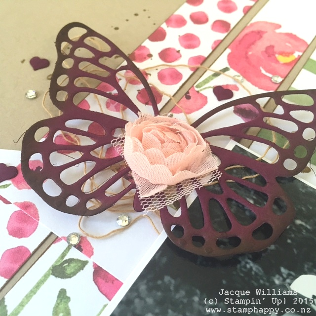 stampin up painted petals vintage butterfly basics layout