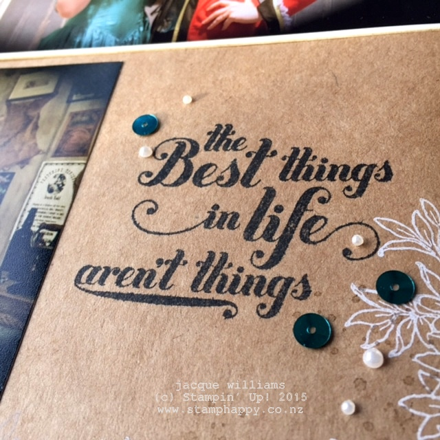 stampin up amazingly artistic feel goods scrapbooking layout