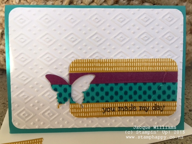 stampin up bohemian washi tape butterfly