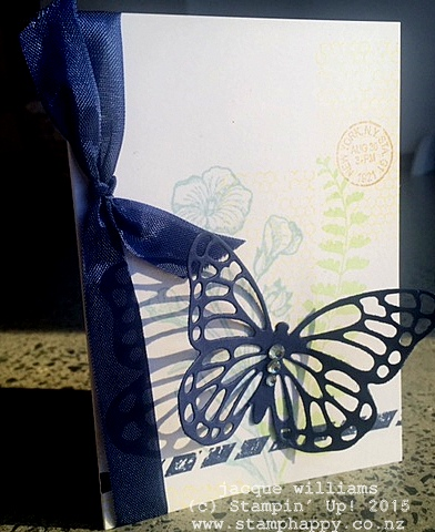 stampin up butterfly basics easy workshop quick