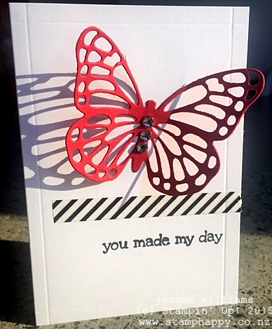 stampin up butterfly dies washi tape clean simple quick
