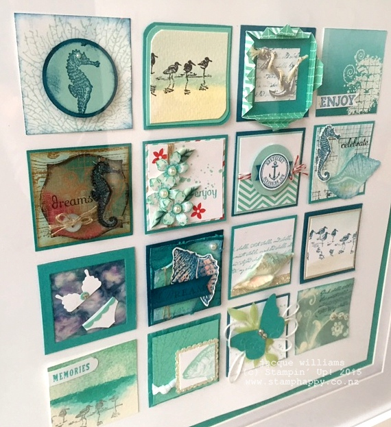 stampin up nautical by the sea wetlands framed art