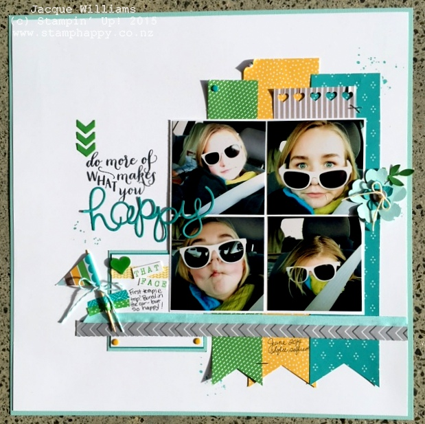 stampin up cherry on top scrapbooking layout