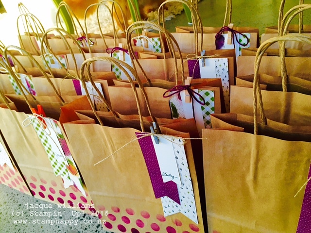 stampin up farmers market gift bags