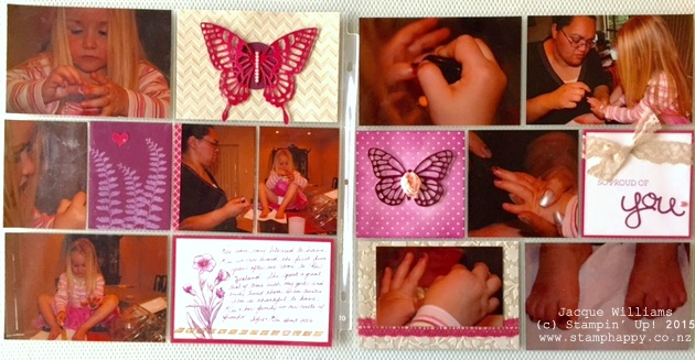 stampin up project life butterfly basics blackberry bliss