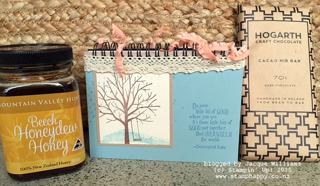 stampin up sheltering tree altered notebook nelson