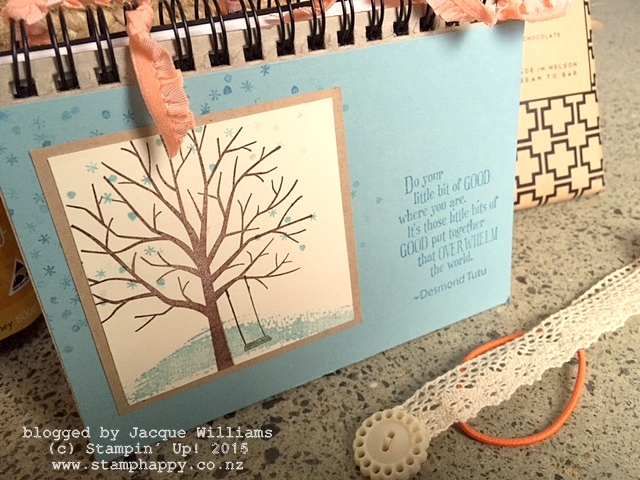 stampin up sheltering tree nelson notebook altered