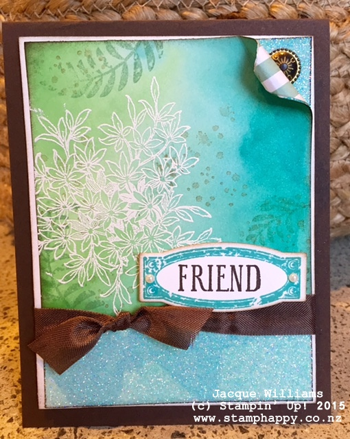 stampin up awesomely artistic emboss technique background bermuda bay