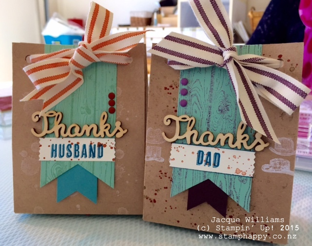 stampin up guy greetings fathers day masculine gift bag