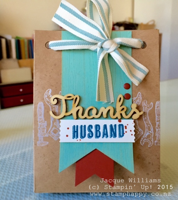 stampin up guy greetings masculine gift