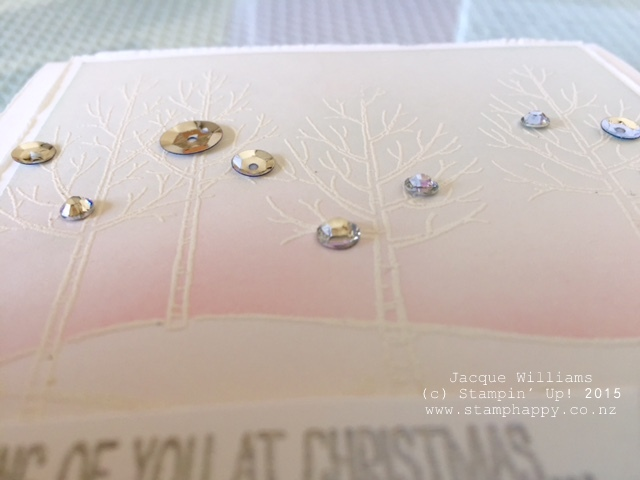 stampin up white christmas sponging technique