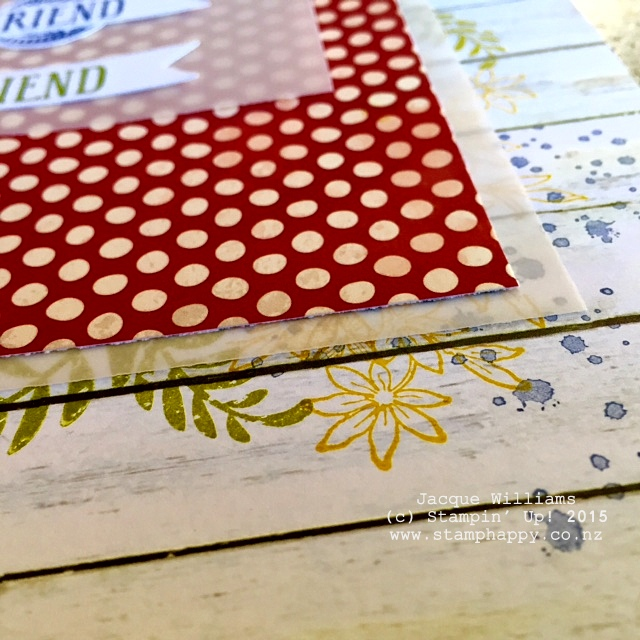 stampin up farmer's market vellum quick easy layout scrapbooking
