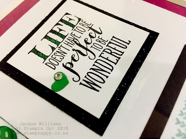 stampin up gift sampler mint macaron black white
