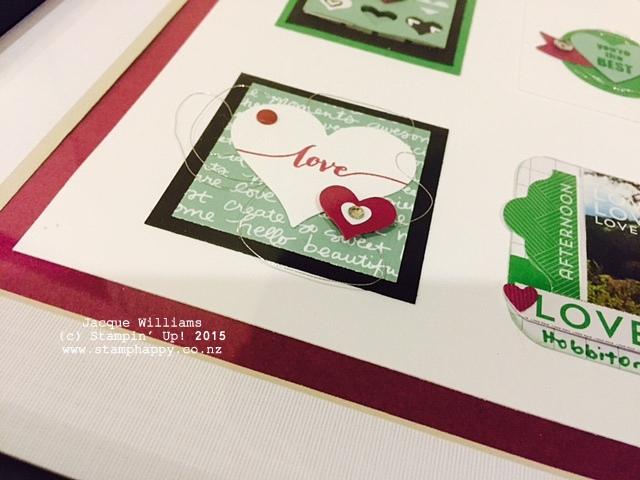 stampin up sampler home decor heart wall art mint macaron