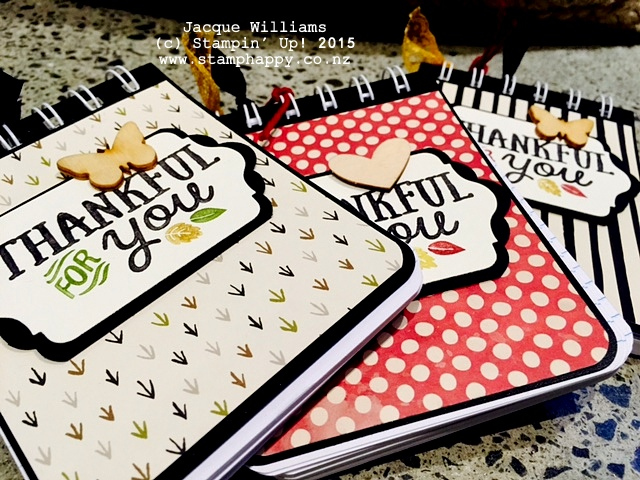 stampin up thankful forest friends farmer's market alterned notebook gift