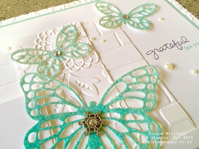 stampin up butterfly dies scrapbooking layout embossing