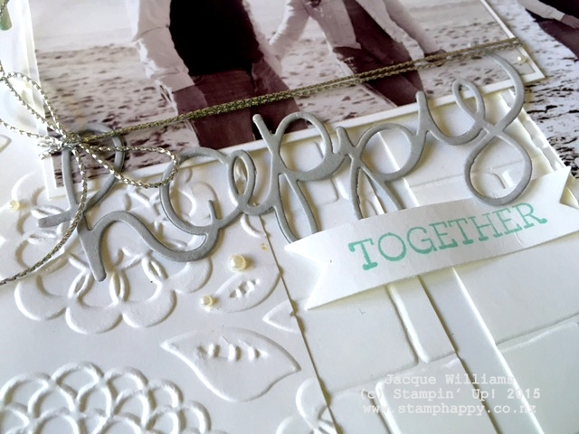 stampin up hello you scrapbooking layout monochromatic 3 photo