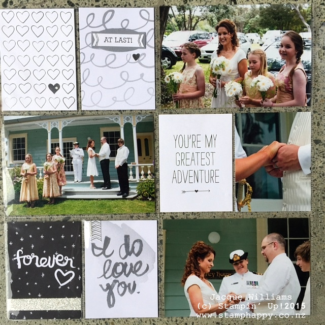 stampin up project life love story layout