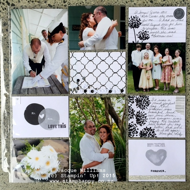 stampin up project life love story