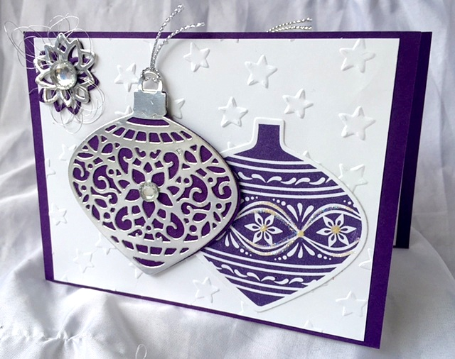 stampin up delicate ornaments