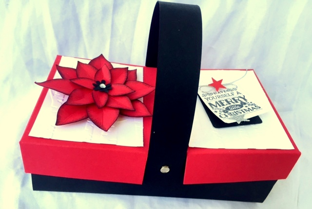 stampin up festive flower picnic box christmas