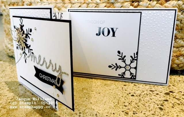 stampin up holly jolly z fold christmas snowflake card