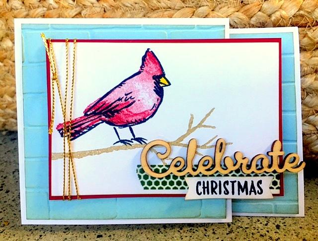 stampin up joyful season z fold christmas cardinal