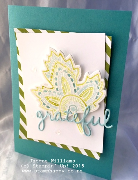 stampin up lighthearted leaves old olive blender pens workshop