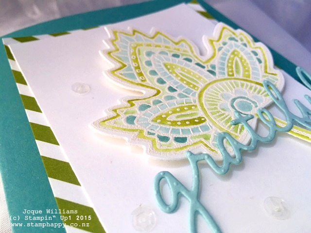 stampin up lighthearted leaves watercoloring embossing