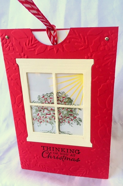 stampin up lovely as a tree slider card