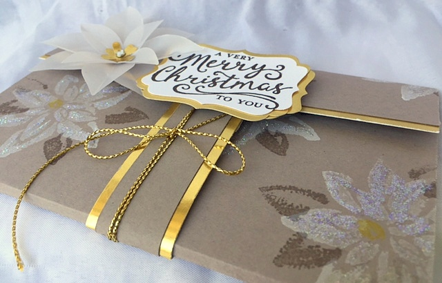 stampin up reason for the season gift voucher certificate holder