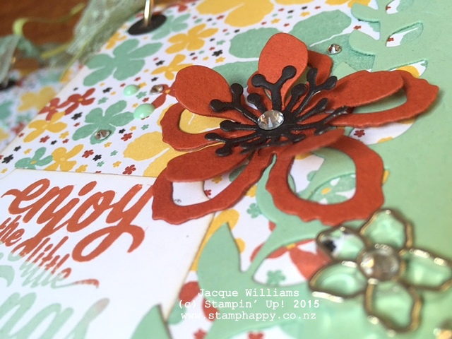 stampin up books botanical blooms downline team christmas gifts altered