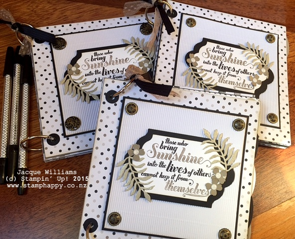 stampin up books go wild feel goods downline gift diy book