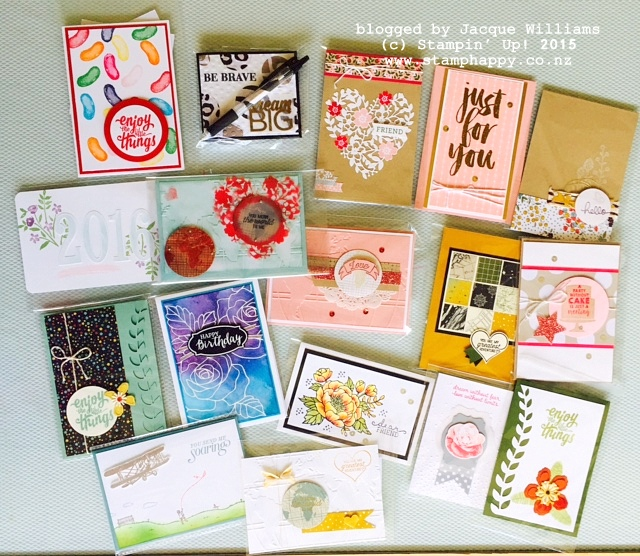 stampin up christmas team meeting swaps