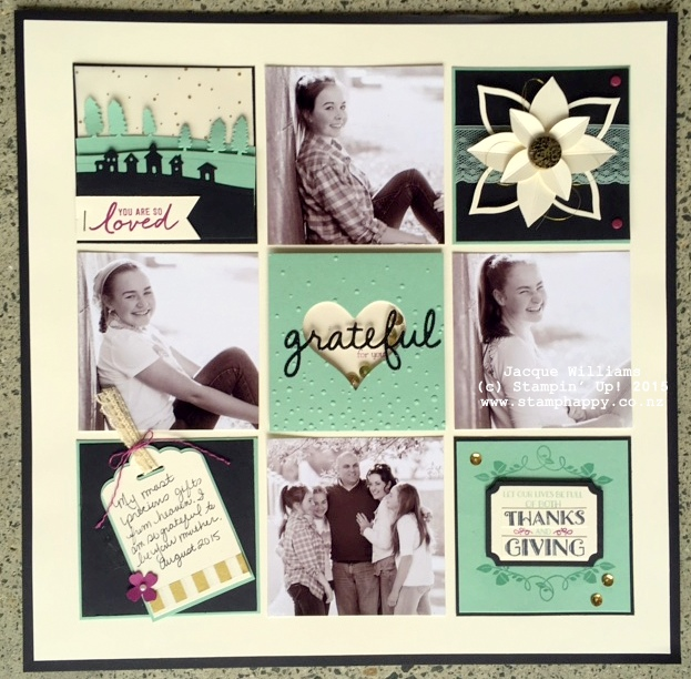 stampin up festive flower punch scrapbooking layout
