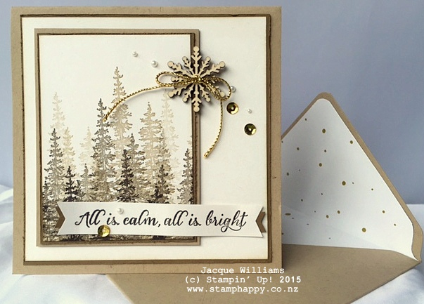 stampin up wonderland scenery christmas snowflake element