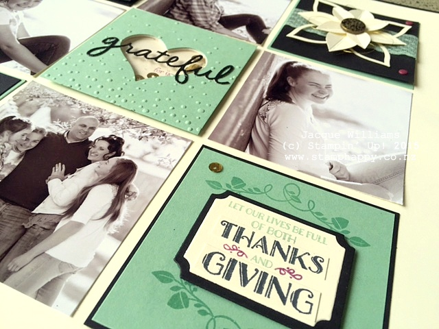 stampin up woodland friends thanksgiving title layout