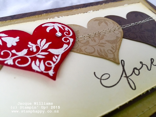 stampin up first sight embossed heart masculine vintage