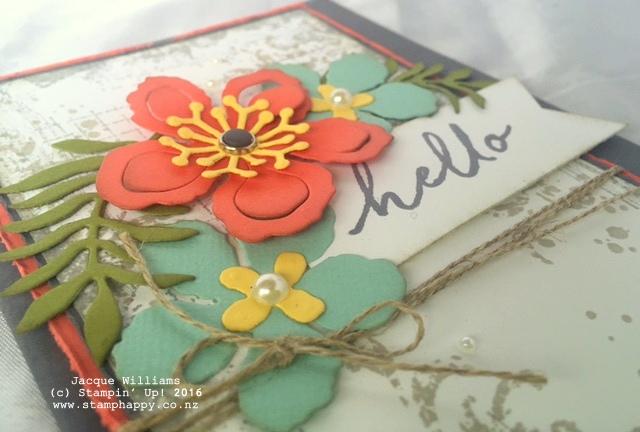 stampin up timeless texture vintage botanical bloom