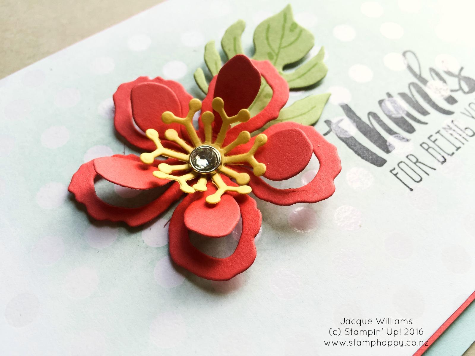 stampin up color me irresistable botanical blooms resist